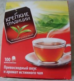 """Чай черный байховый """"Крепкие традиции"""" в пакетиках"""