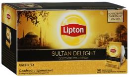 Чай Lipton Green Sultan Delight зеленый со вкусом восточных сладостей