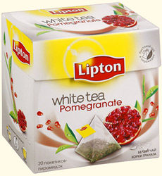 Чай Lipton White tea Pomegranate в пакетиках-пирамидках
