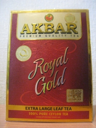 Чай особо крупнолистовой Akbar Royal Gold Extra Large Leaf Tea 100% Pure Ceylon Tea