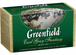 Чай в пакетиках Greenfield Earl Grey Fantasy с ароматом бергамота