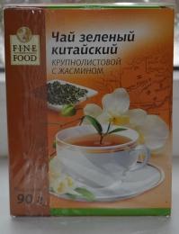 Чай зеленый байховый китайский крупнолистовой с цветами жасмина Fine Food