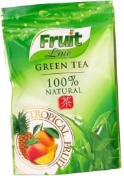 """Чай зеленый китайский ароматизированный """"Fruit Line"""" Tropical Fruit 100% Natural"""