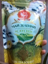 """Чай зеленый байховый листовой ароматизированный Верблюд """"Саусеп"""""""