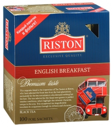 "Черный чай Riston ""English Вreakfast"" в пакетиках"