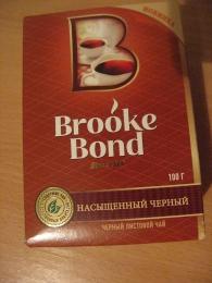 Черный листовой чай Brooke Bond Rich Black Насыщенный черный