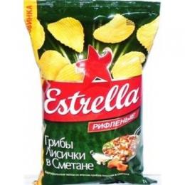 """Чипсы """"Estrella"""" Грибы лисички в сметане"""