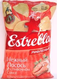 """Чипсы """"Estrella"""" Нежный лосось в сливочном соусе"""