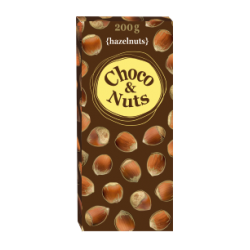 Шоколад Dipa Sas Choco & Nuts Milk Chocolate с цельным фундуком