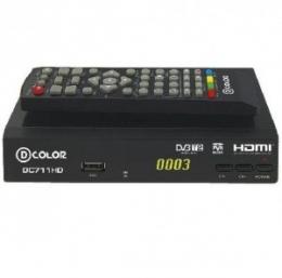 Цифровой эфирный ресивер D-COLOR DC701HD с функциями медиаплеера