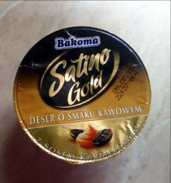 """Десерт Bakoma """"Satino Gold"""" молочный кофейный с карамельным соусом 6,5%"""