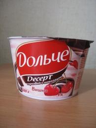 """Десерт творожный с шоколадом """"Дольче"""" Вишня 4%"""