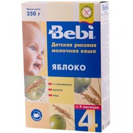 Детская рисовая молочная каша Bebi Яблоко