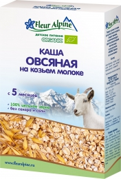 Детская каша овсяная на козьем молоке Fleur Alpine