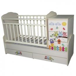 """Детская кровать-трансформер Антел """"Поющие Совята"""""""