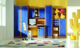 """Детская мебель стенка """"Юниор"""" синий GERA-мебель BRW"""