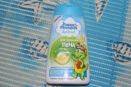 """Пена для купания Дракоша """"Happy moments"""" аромат дыни от 1 года Ромашка, череда и календула"""