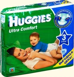 Детские одноразовые подгузники Huggies Ultra Comfort для мальчиков