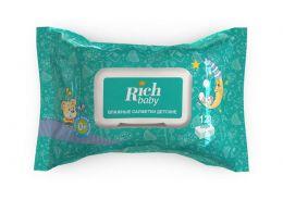 Детские влажные салфетки для новорожденных Rich Baby