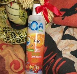 Бальзам детский для волос AQA baby Kids 3 + с маслом Ши, витаминами и эксрактом облепихи
