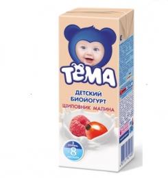 "Детский биойогурт Тёма ""Малина-шиповник"" 2,8%"