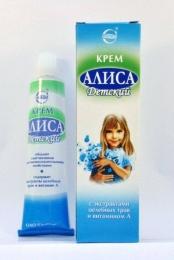 Детский крем Алиса c экстрактами целебных трав и витамином А