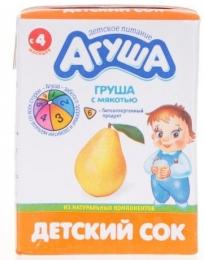 """Детский сок """"Агуша"""" груша с мякотью"""