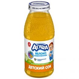 """Детский сок Агуша """"Яблоко осветленное"""" с 3 месяцев"""