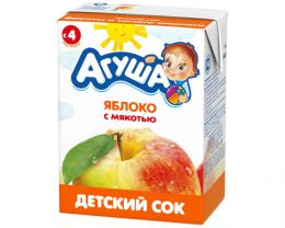 """Детский сок """"Агуша"""" яблоко с мякотью"""