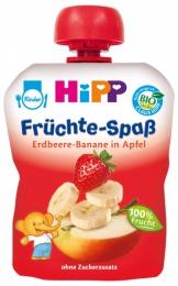 Детское фруктовое пюре Hipp Клубника-Банан-Яблоко