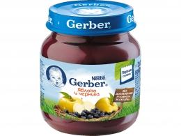 Детское пюре Gerber яблоко и черника