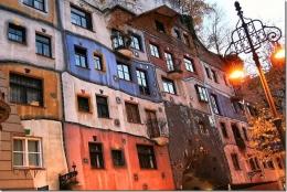 Дом Хундертвассера в Вене (Австрия)