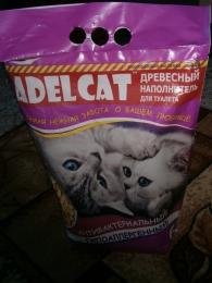 """Древесный наполнитель для кошачьего туалета """"Adel Cat"""" антибактериальный гипоаллергенный"""