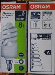Энергосберегающая лампочка Osram Duluxstar Mini Twist 15W / 4000K Lumilux Cool White.