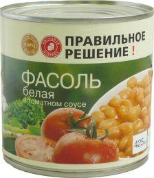 """Фасоль белая в томатном соусе """"Правильное решение"""""""