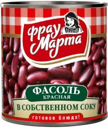 """Фасоль красная в собственном соку """"Фрау Марта"""""""