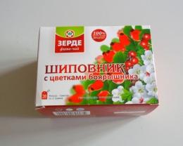 """Фито-чай """"Шиповник с цветками боярышника"""" Зерде"""