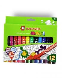 Фломастеры утолщённые Baramba 12 цветов