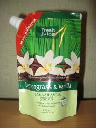 """Гель для душа Fresh Juice Lemongrass & Vanilla """"Лемонграсс и ваниль"""" Sexy Mix"""