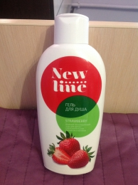 "Гель для душа ""New line"" Strawberry"