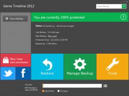 Программа резервного копирования Genie Timeline для Windows