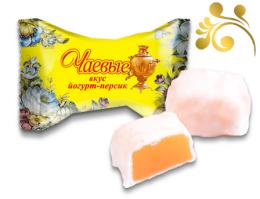 Глазированные желейные конфеты SlaSti «Чаевые» Вкус йогурт-персик