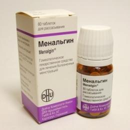 """Гомеопатическое обезболивающее """"Менальгин"""" в таблетках"""
