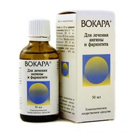 """Гомеопатическое лекарственное средство """"Вокара"""" для лечения ангины и фарингита"""