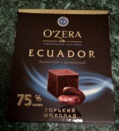 """Горький шоколад """"O'zera"""" Ecuador 75%"""