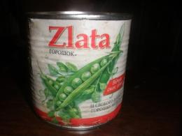 """Горошек зеленый консервированный стерилизованный """"Zlata"""""""