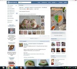 "Группа ВКонтакте ""Крестик — интернет-журнал по рукоделию —HandMade"""