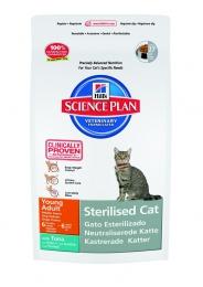 Корм Hill's Science Plan с тунцом для молодых кастрированных котов и кошек