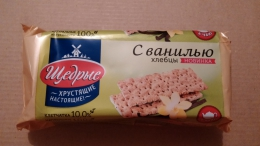 """Хлебцы пшеничные с ванилью Династия """"Щедрые"""""""
