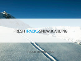 Игра Fresh Tracks Snowboarding для iPad